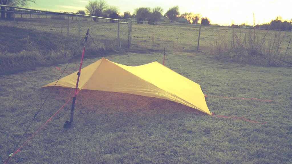 Some lightweight backpackers choose to create their own gear to their own specifications. For example here is the tarp that I created using 1.3oz Ripstop Siliconized Nylon.